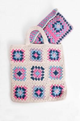 Summer Granny Square Tote & Clutch Kit